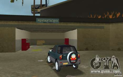 Toyota RAV4 for GTA Vice City back left view