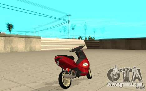 Gilera Runner 50SP Skin 5 for GTA San Andreas back left view