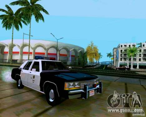 Ford Crown Victoria LTD LAPD 1991 for GTA San Andreas right view