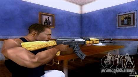 AK-47 for GTA San Andreas third screenshot