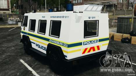 RG-12 Nyala - South African Police Service for GTA 4 back left view