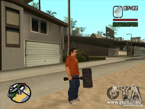 Hammer Of The WarCraft III for GTA San Andreas second screenshot