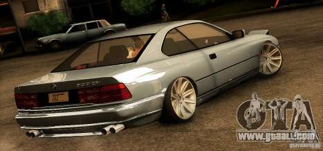 BMW 850 CSI for GTA San Andreas back left view