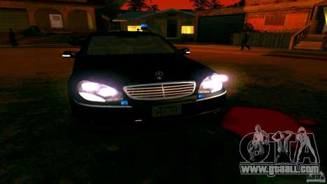 Mercedes S500 for GTA San Andreas inner view