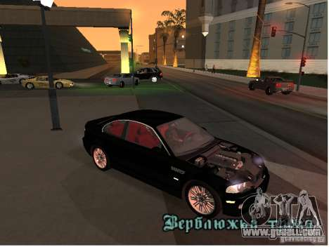 BMW M3 GT-R Stock for GTA San Andreas left view