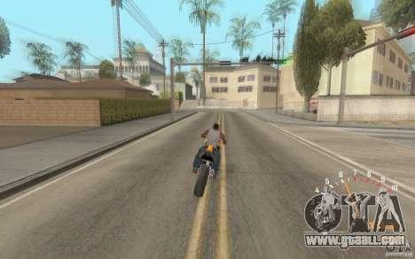 Digital speedometer and tachometer for GTA San Andreas forth screenshot