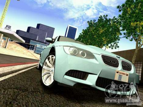BMW M3 MotoGP SafetyCar for GTA San Andreas inner view