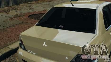 Mitsubishi Lancer Evolution VIII v1.0 for GTA 4 upper view