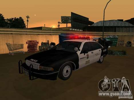 Chevrolet Caprice Police for GTA San Andreas right view