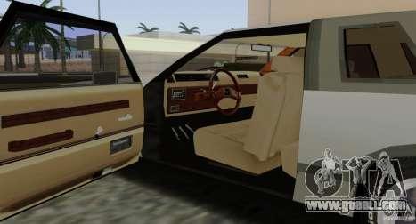 Virgo Continental for GTA San Andreas bottom view