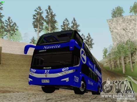 Marcopolo Paradiso 1800 DD Navette XL Coomotor for GTA San Andreas back view