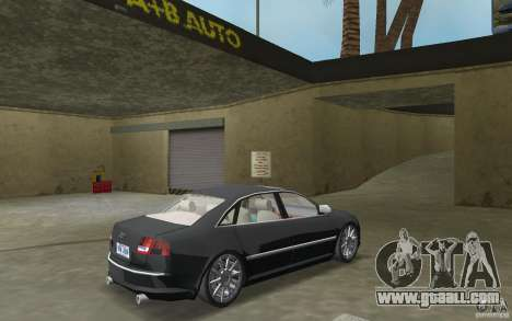 Audi A8 for GTA Vice City back view
