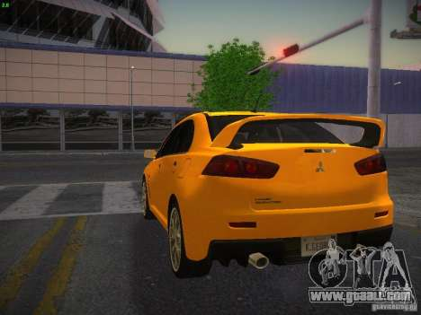 Mitsubishi Lancer Evo X Tunable for GTA San Andreas left view
