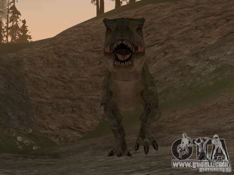 Dinosaurs Attack mod for GTA San Andreas forth screenshot
