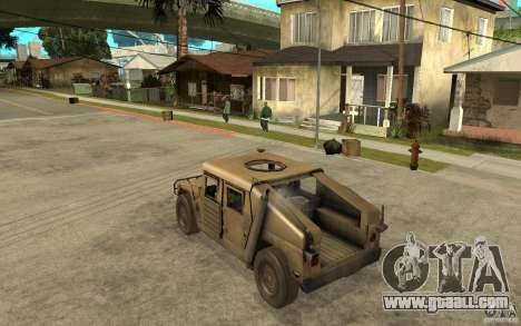 Hummer H1 War Edition for GTA San Andreas back left view