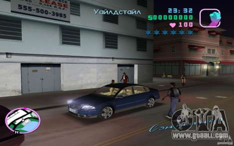 Volkswagen Passat B5+ W8 for GTA Vice City right view