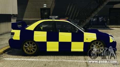 Subaru Impreza British ANPR [ELS] for GTA 4 left view