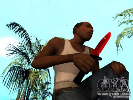 Red Chrome Weapon Pack for GTA San Andreas eleventh screenshot