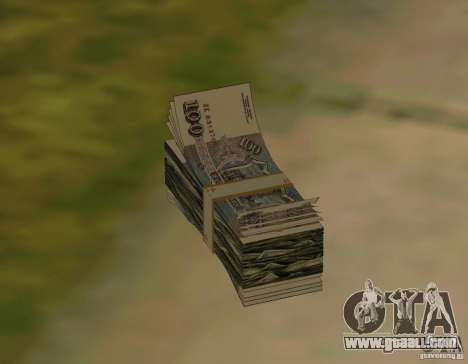 Rubles, along with dollars for GTA San Andreas forth screenshot