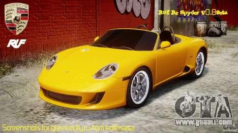 Ruf RK Spyder v0.8Beta for GTA 4