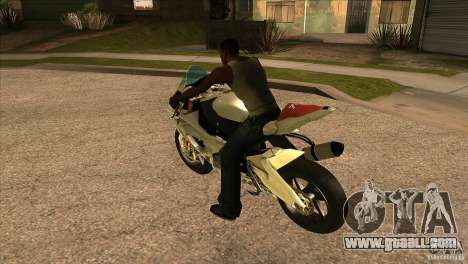 BMW S1000 RR for GTA San Andreas back left view
