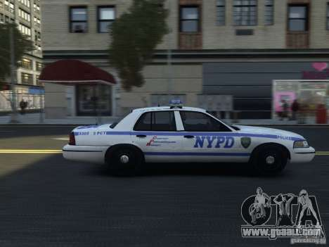 Ford Crown Victoria NYPD 2012 for GTA 4 back view