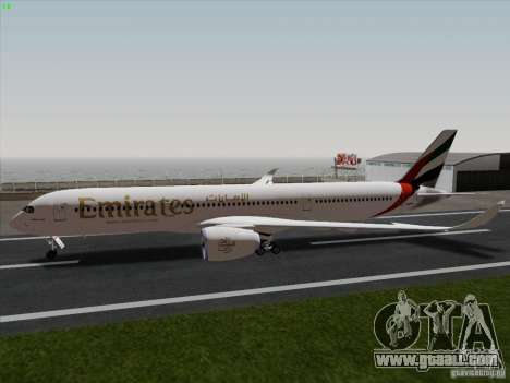 Airbus A350-900 Emirates for GTA San Andreas left view