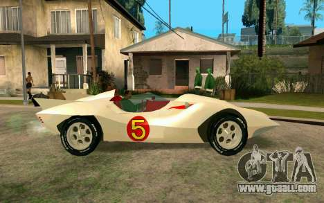 Mach 5 for GTA San Andreas left view