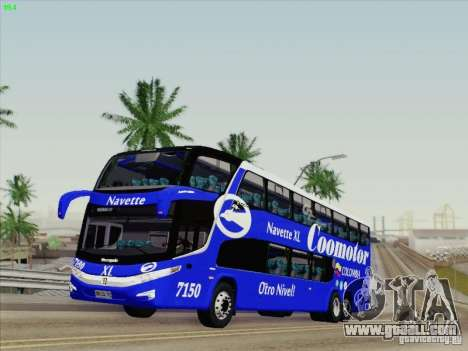 Marcopolo Paradiso 1800 DD Navette XL Coomotor for GTA San Andreas left view