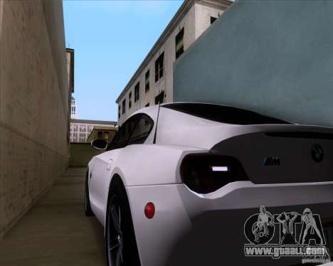BMW Z4 M Coupe for GTA San Andreas upper view
