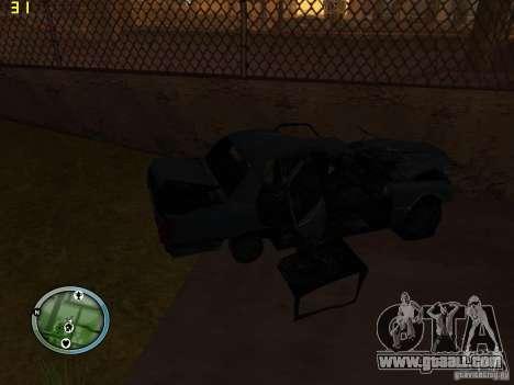 Broken cars on Grove Street for GTA San Andreas fifth screenshot