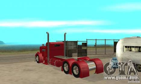 Peterbilt Coupe for GTA San Andreas right view