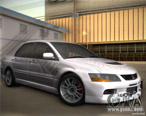 Mitsubishi Lancer Evolution IX Tunable for GTA San Andreas side view