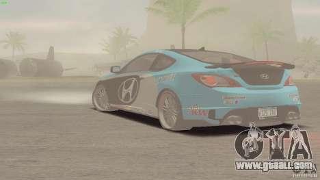 Hyundai Genesis Tunable for GTA San Andreas inner view
