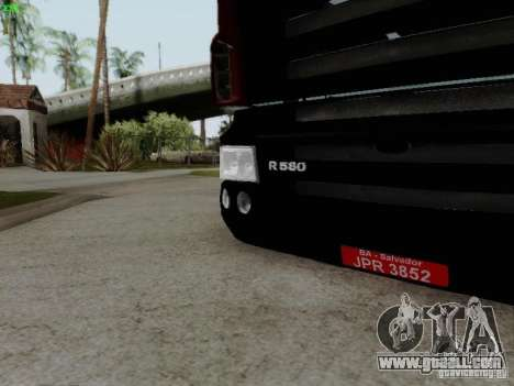 Scania R580 V8 Topline for GTA San Andreas inner view