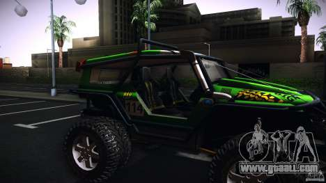 Tiger 4x4 for GTA San Andreas back left view