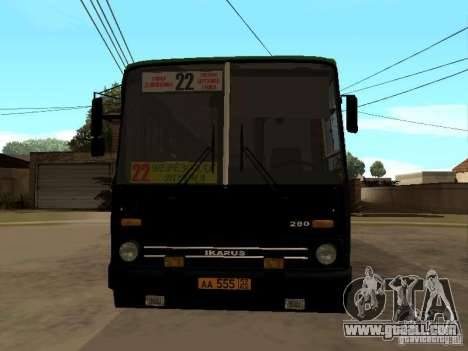 IKARUS 280 33M for GTA San Andreas back left view