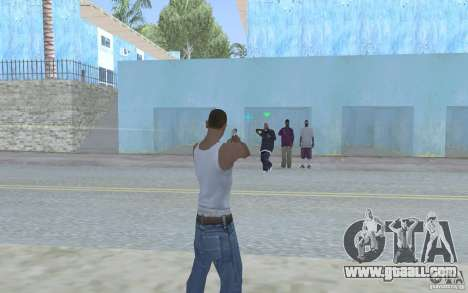 Blue sight for GTA San Andreas third screenshot
