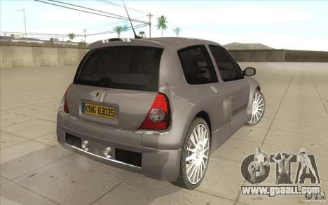 Renault Clio V6 for GTA San Andreas back view