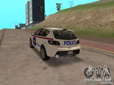 Mazda 3 Police for GTA San Andreas left view