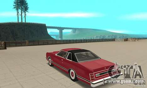 Ford LTD Landau Coupe 1975 for GTA San Andreas back left view