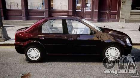 Dacia Logan 2007 Prestige 1.6 for GTA 4 upper view