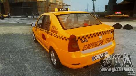 Dacia Logan Facelift Taxi for GTA 4 back left view