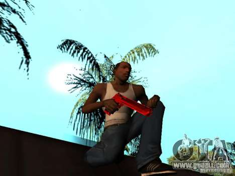 Red Chrome Weapon Pack for GTA San Andreas tenth screenshot