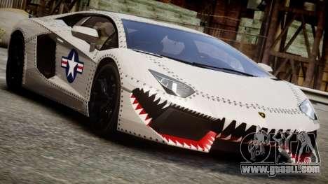 Lamborghini Aventador LP700-4 2012 USAF for GTA 4