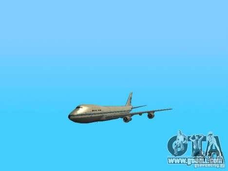 Boeing 747-100 Pan American Airways for GTA San Andreas inner view
