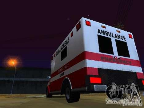 Ambulance 1987 San Andreas for GTA San Andreas side view