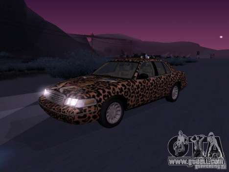 Ford Crown Victoria for GTA San Andreas inner view