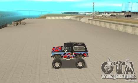 Chevrolet Blazer K5 Monster Skin 1 for GTA San Andreas left view