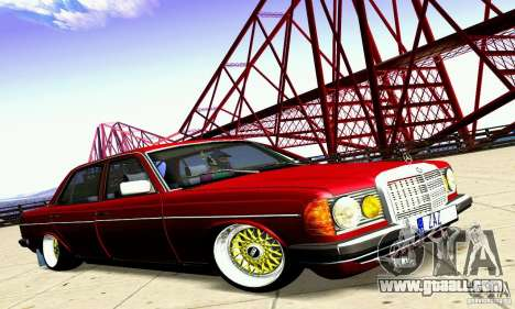 Mercedes Benz W123 for GTA San Andreas back view